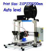 China HICTOPPrusa i3 Smart Auto Leveling 3d printer Desktop DIY 3D Printer Kit with Silver Aluminum Frame retail