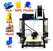 La Chine HICTOP Prusa i3 Auto Level 3d printer DIY 3D Printer Kit with Aluminum Frame 3dp-12-bk retail