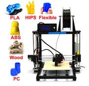 中国 HICTOP Prusa i3 Auto Level 3d printer DIY 3D Printer Kit with Aluminum Frame 3dp-12-bk retail