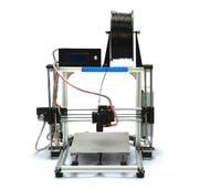 China Famous Brand HICTOP Silver Aluminum 3d Printer DIY 3D Printer 3dp-11-wt retail