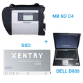 Top QualityV2016.7 MB SDC4 Star Mercede Benz Diagnostic tool with 256GB SSD Plus DELL D630 Laptop 4GB Memory