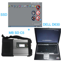 Top QualityV2016.07 MB SD Connect C5 Star Diagnosis with 256GB SSD Software Plus Dell D630 4GB Laptop