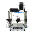 Top QualityFamous Brand HICTOP Silver Aluminum 3d Printer DIY 3D Printer 3dp-11-wt