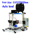 Top QualityHICTOPPrusa i3 Smart Auto Leveling 3d printer Desktop DIY 3D Printer Kit with Silver Aluminum Frame