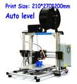 Top QualityHICTOPPrusa i3 Smart Auto Leveling 3d printer Desktop DIY 3D Printer Kit with Silver Aluminum Frame