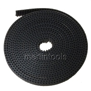 China HICTOP Black 5 Meters GT2 2mm Pitch 6mm Wide Timing Belt for 3D printer CNC retail