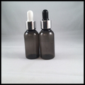 Top Quality30ml Black PET Plastic Bottles With Glass Dropper And Childproof Silver Cap Black White Nipple